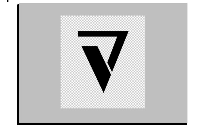 Open Photoshop , open logo and fill with black.