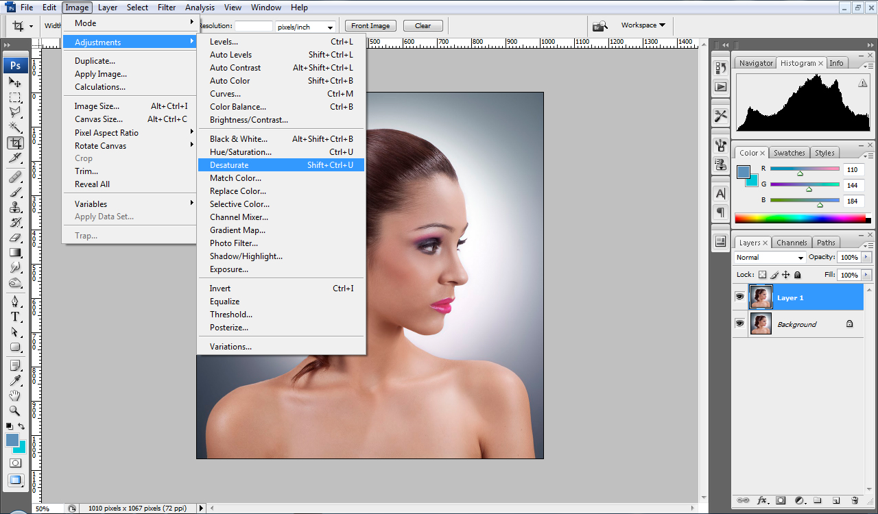 Extract hair photoshop cs4 tutorial change hair color step baditri Image collections