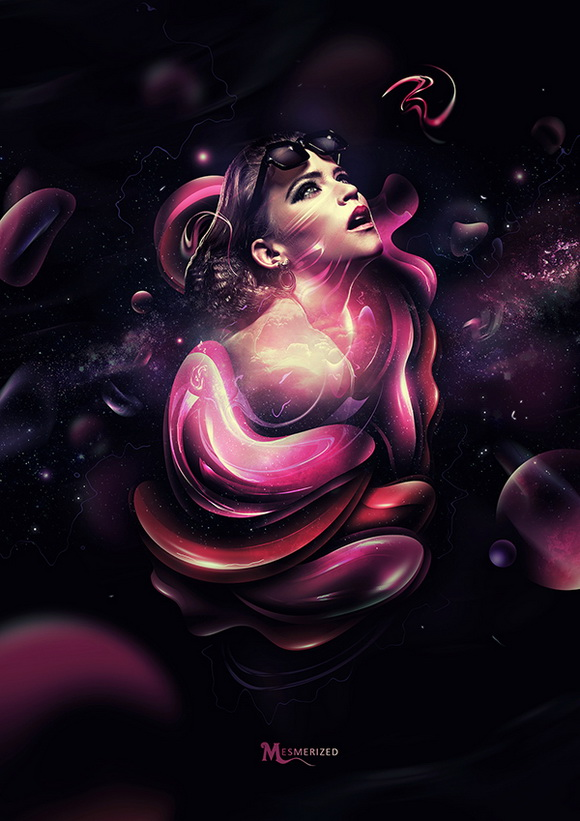 Create the Beautiful Digital Masterpiece 'Mesmerized'
