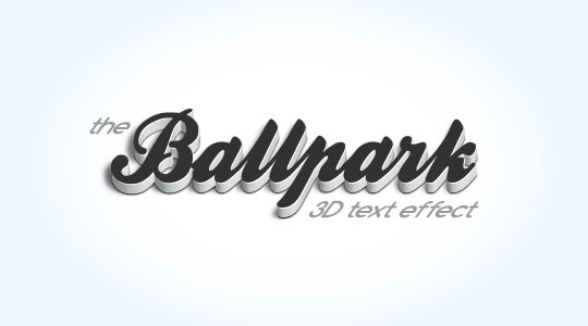 Create a modern 3D text effect