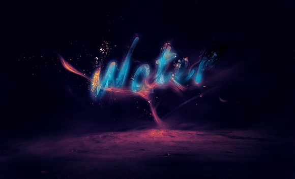 create-a-glowing-liquid-text-with-water-splash-effect-in-photoshop