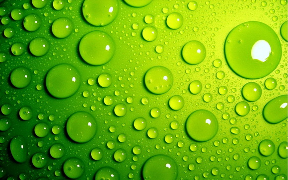 Bubbles green surface