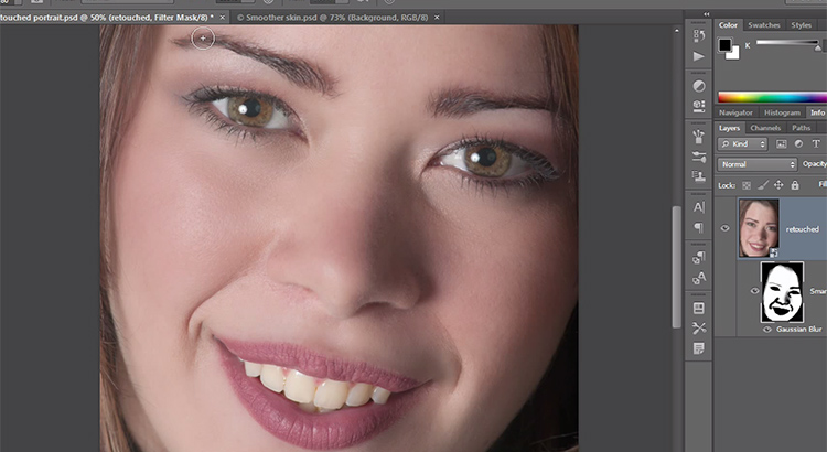 Skin retouching photoshop CS6 tutorial
