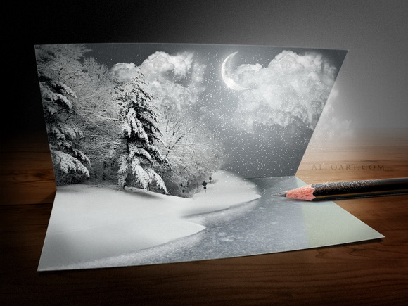 Create your own 3d Christmas Holiday Card