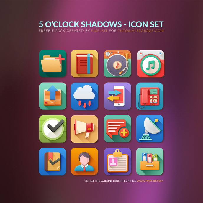 5 O'clock Shadows Free Icon Set