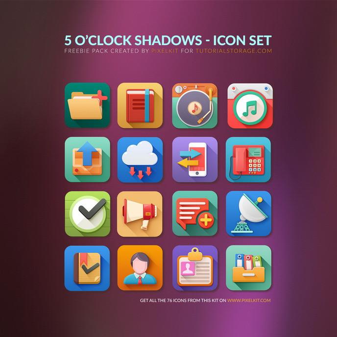 5 O'clock Shadows Free Icon Set