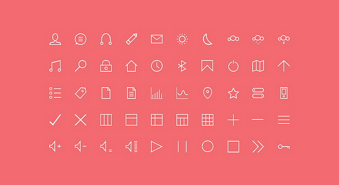 50 Free Thin Custom Icons