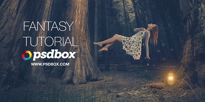 Fantasy Photoshop Tutorial – Floating Lady