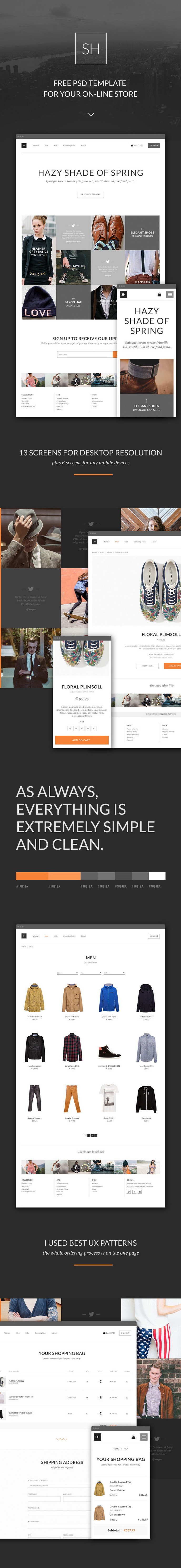 Free PSD e-Commerce Template