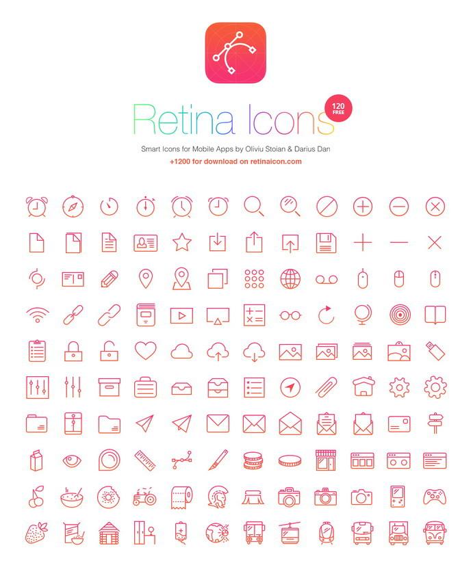 120 retina free icons