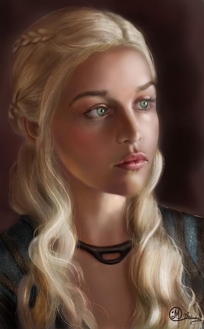 Paint a realistic face - Daenerys Targaryen