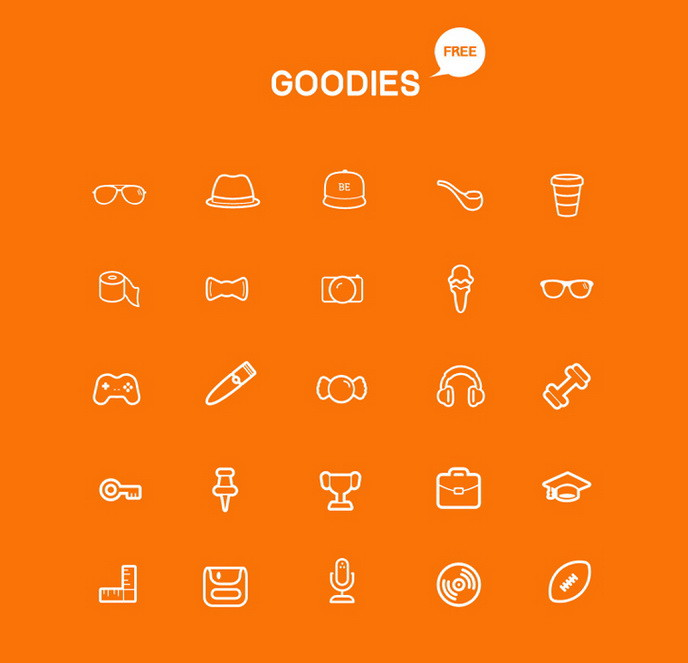 Goodies Free Icon Set