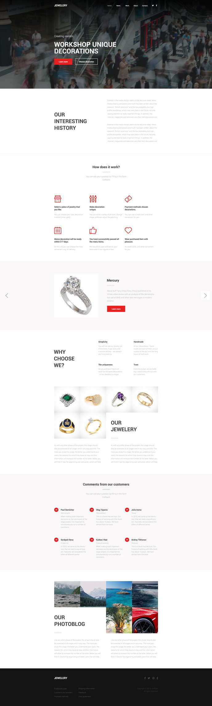 jewelery free psd theme