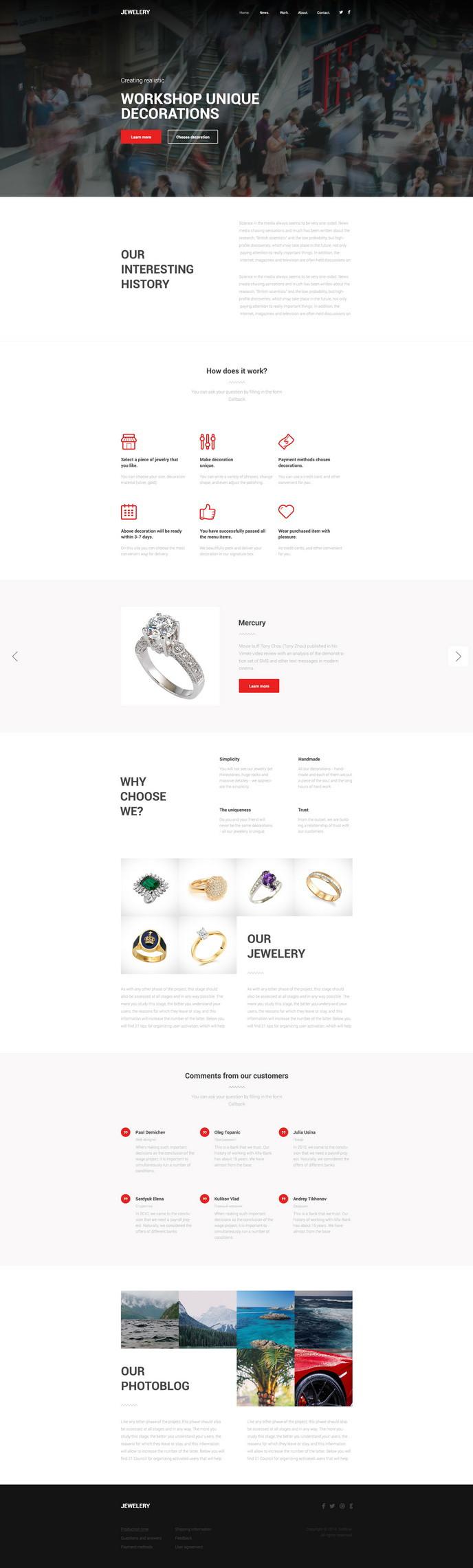 jewelery free psd theme
