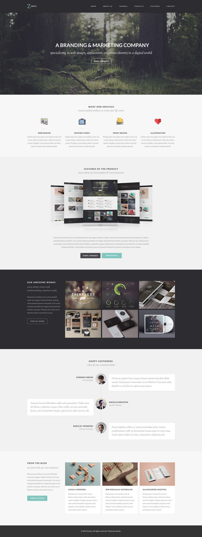 Zonya Free Homepage PSD