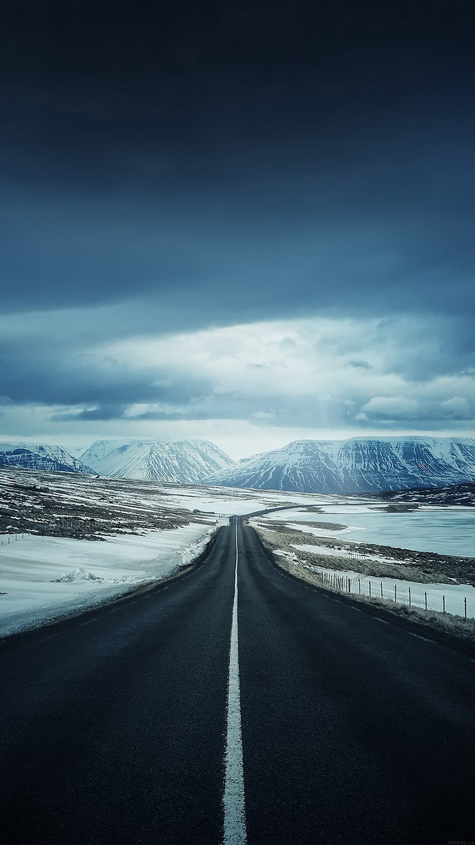 Road-snow-mountains
