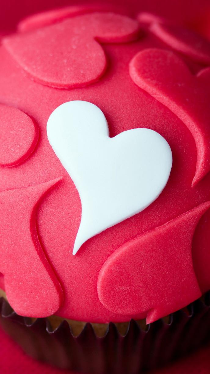 Pink Cupcake Heart