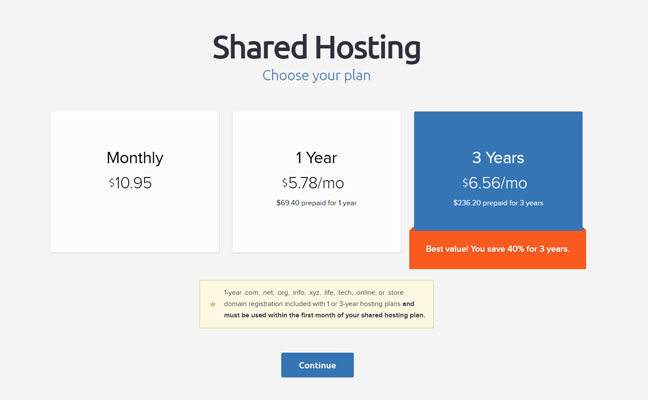 Choose your hosting plan - best deal