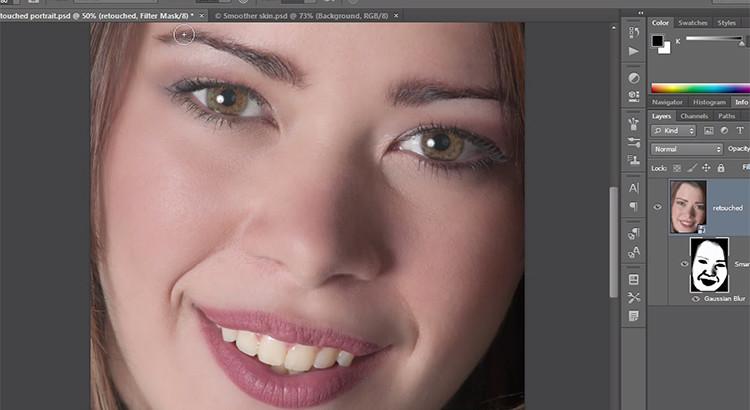 Skin retouching photoshop CS6 tutorial