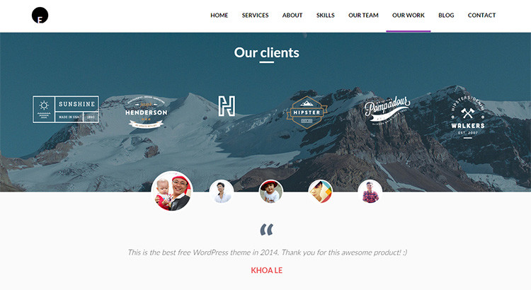 OneEngine - Free One Page WordPress Theme