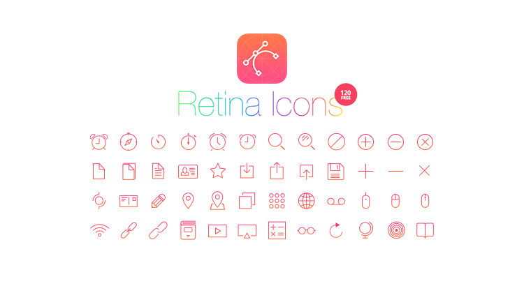 retina free icons preview